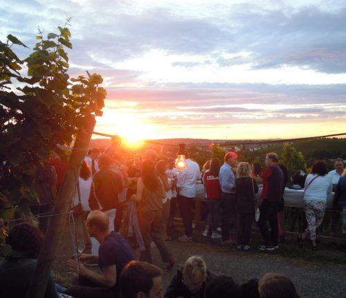 Weinausschank beim Sunset Wine Tasting des Collegium Wirtemberg