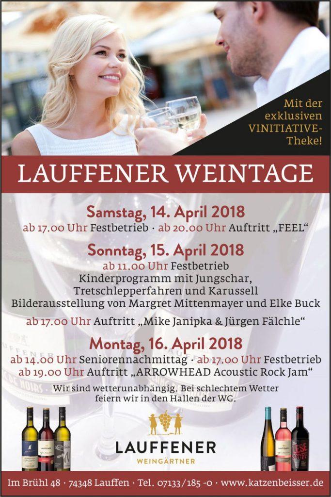 Lauffener Weintage - Flyer