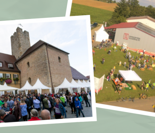 """Titelbild """"Kelterfest Marbach"""" und """"Wein auf der Insel Lauffen"""""""