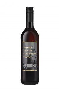 Der Jubiläumswein des Fellbacher Turm des Fellbacher Weingärtner