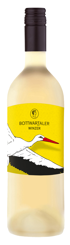 Die 2018er Weißwein Cuvée der Bottwartaler Winzer mit dem Storch auf dem Etikett