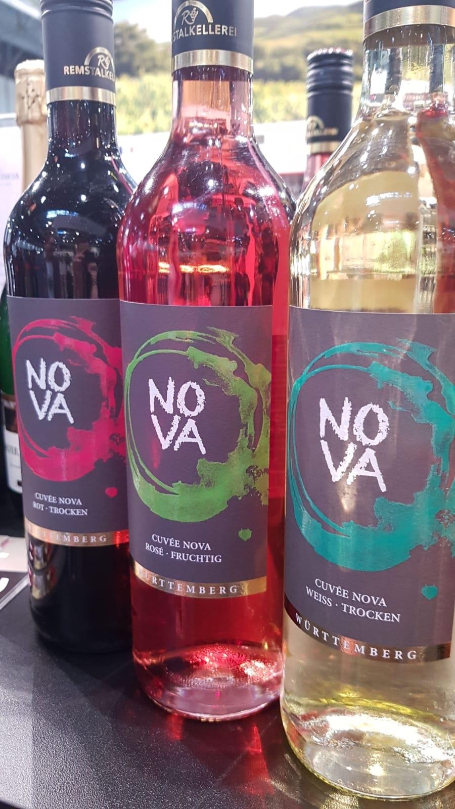 Die drei Weine der NOVA-Linie der Remstalkellerei