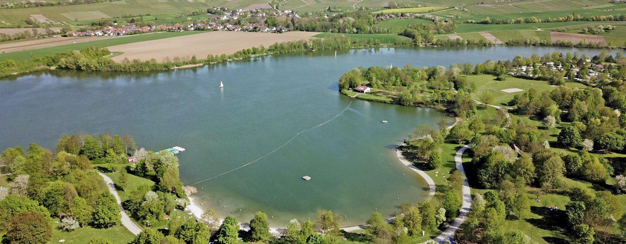 Der Breitenauer See von oben