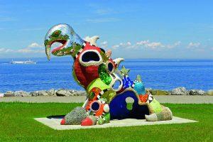 """""""Dragon"""" von Niki de Saint Phalle auf der Bundesgartenschau Heilbronn"""