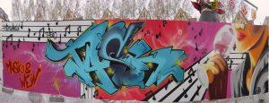 Graffiti bei Musik und Wein