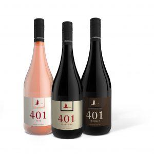 Die drei neuen 401-Weine
