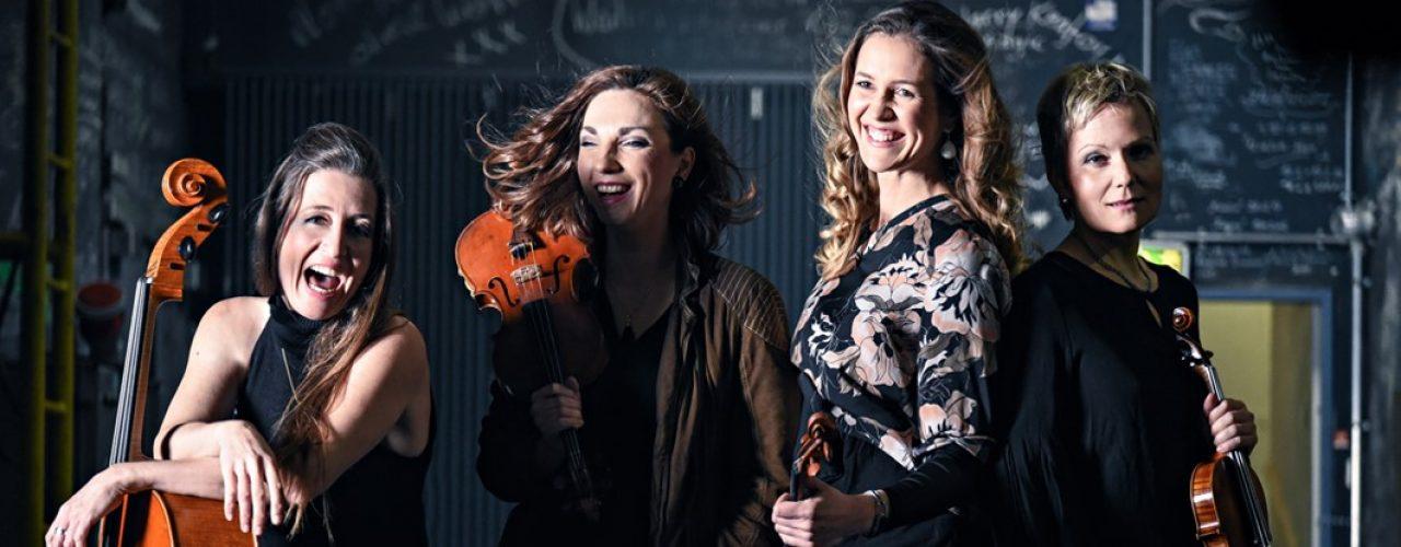 Das Streichquartett La Finesse macht Musiktrekking im Lembergerland