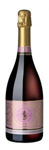 Die Neunundvierzig Grad Rosé Sekt Cuvée der Felsengartenkellerei, die bei Fête49Grad gefeiert wird