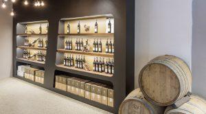 Die hergerichteten Verkaufsräume für die WeinSicht - Eröffnungsfeier