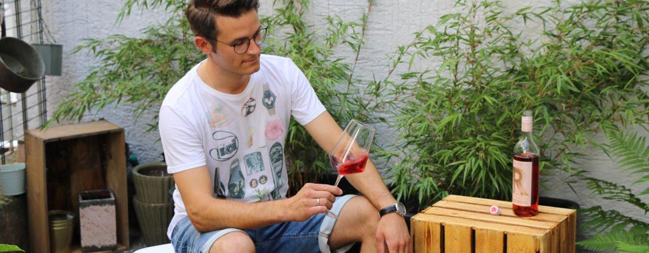 Balkon DIY - Weinkiste