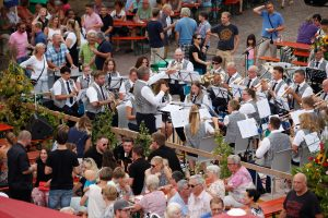 Besucher des Erlenbacher Weinfests