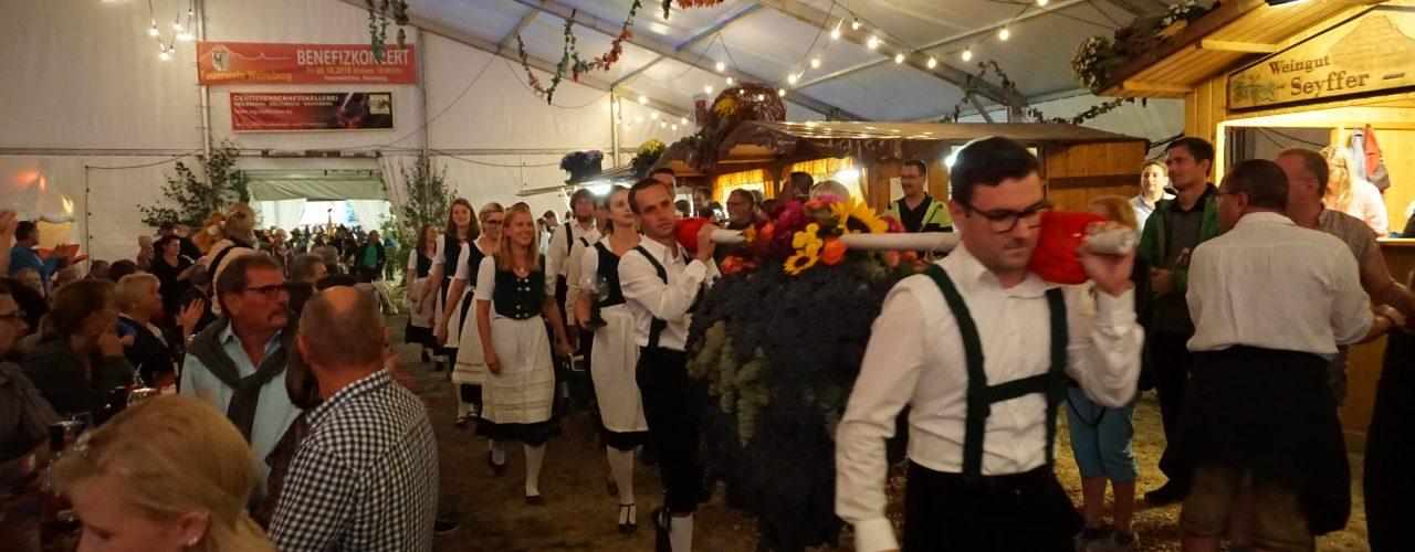 Eröffnung beim Weibertreuherbst in Weinsberg