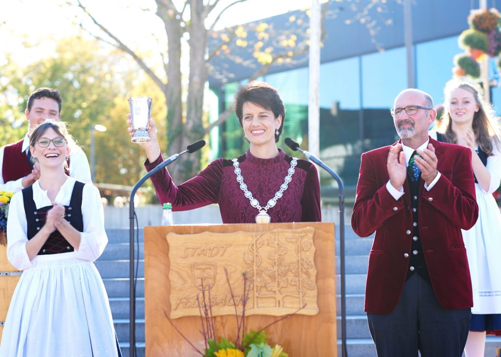 Oberbürgermeisterin Gabriele Zull bei der Eröffnung des Fellbacher Herbst