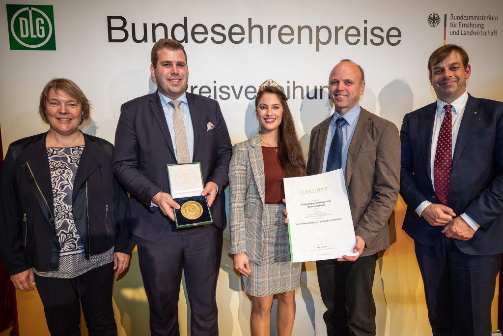 Die Remstalkellerei bekommt den Bundesehrenpreis in Bronze bei der DLG Bundesweinprämierung