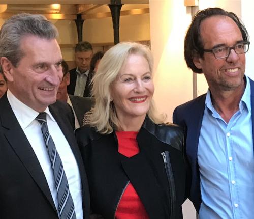 Günther Oettinger, Weingenießerin des Jahres Gaby Hauptmann und Christoph Sonntag