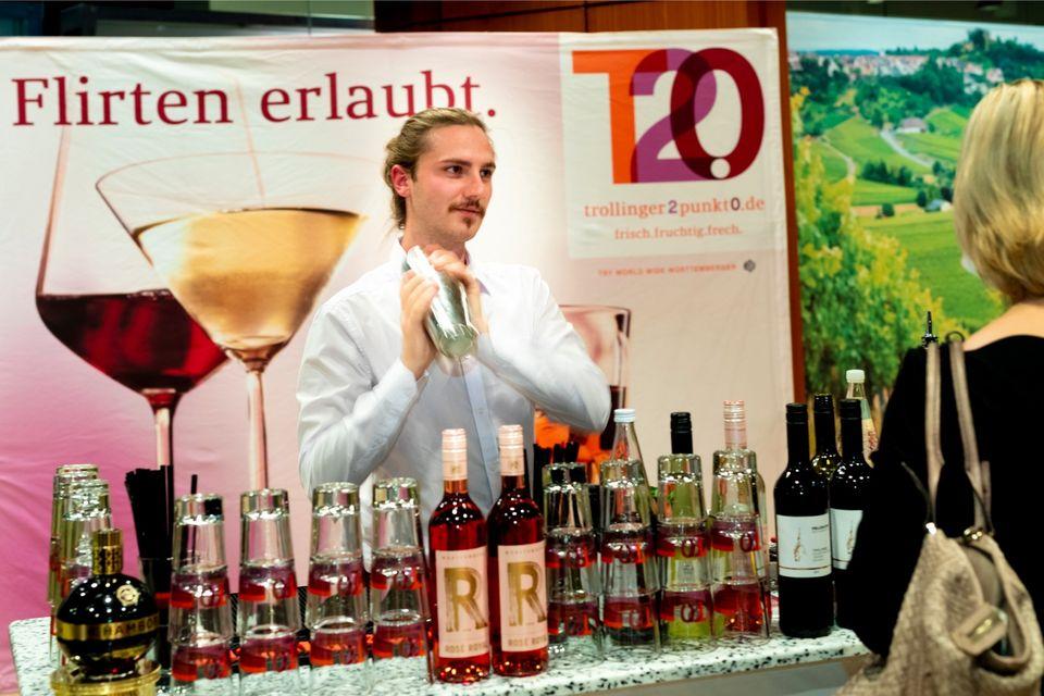 Stand beim Deutschen Rotweinpreis