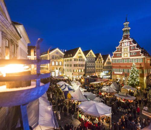 Übersicht über den Esslinger Weihnachtsmarkt