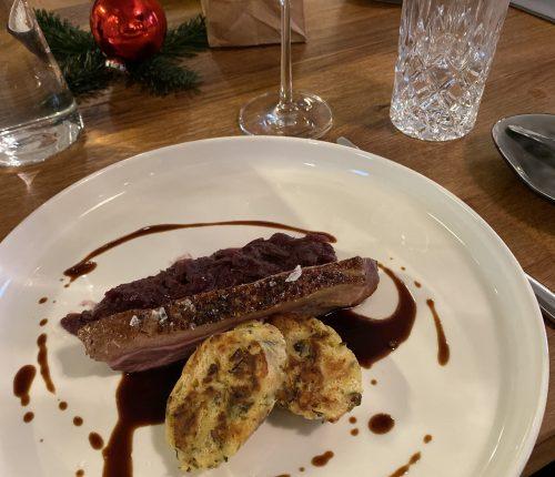 Gang 3 beim Kitchen Confidential Weihnachtskochkurs war die Sous Vide Ente