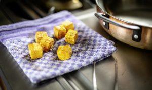 Confierte Kartoffeln
