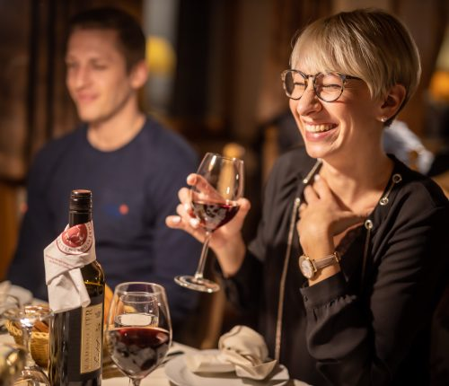 Abendessen mit Württemberger Weinen
