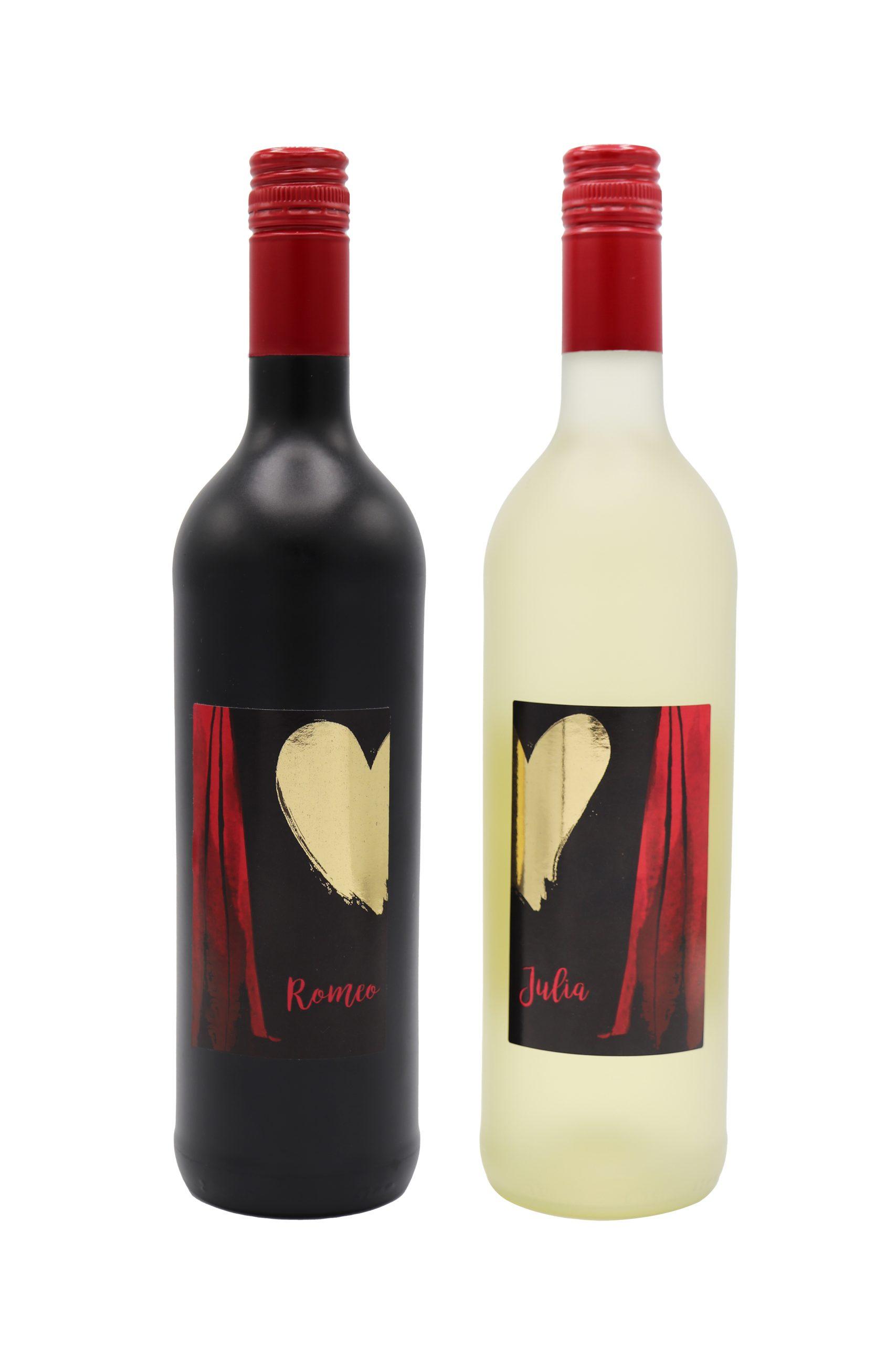 Württemberger Romeo Rotweincuvée Qualitätswein und Württemberger Julia Weissweincuvée Qualitätswein