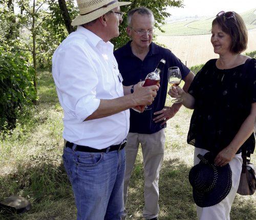 Volker Thunich bei einer Weinerlebnisführung