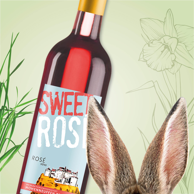 Der Gewinn im Frühlings-Gewinnspiel der Weinheimat Württemberg am 07.04.: Sweet Rosé der Weingärtnergenossenschaft Hohenneuffen-Teck