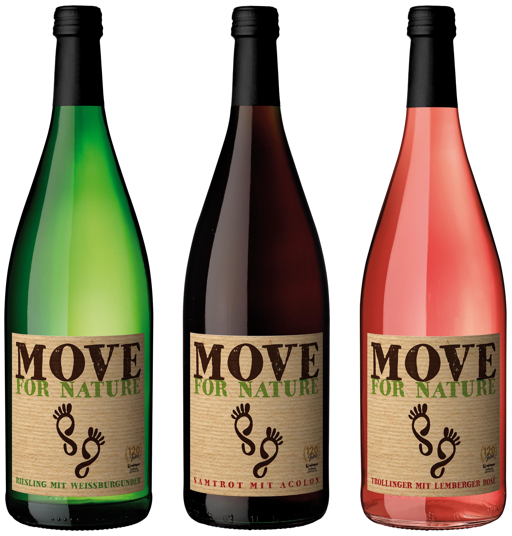 Neue Weine und dann noch in der Mehrwegflasche: Move for Nature Weine der Heuchelberg Weingärtner