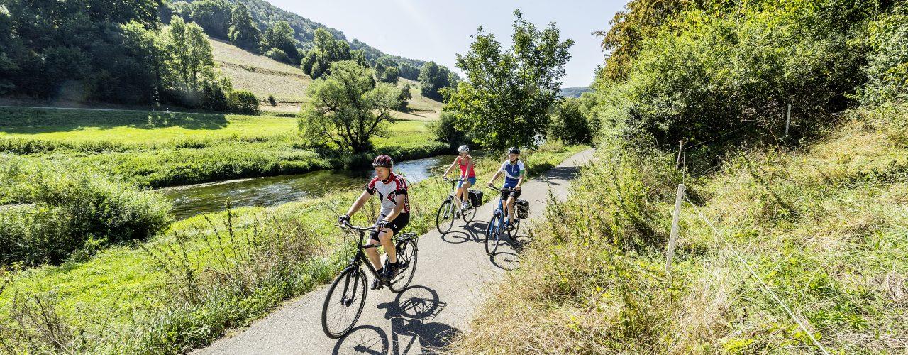 Radtouren: Radfahren im Jagsttal