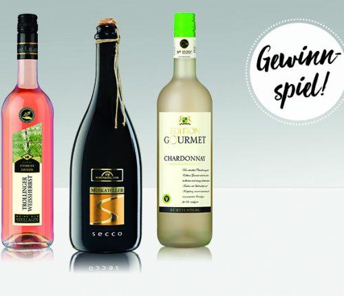 Das Sommerweinpaket mit Gewinnspiel-Schriftzug