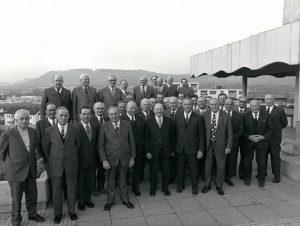 Gründungsväter der Remstalkellerei, aufgenommen im Jahr 1977