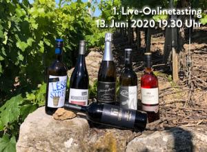 Verkostete Weine bei der ersten Live Verkostung der Lauffener Weingärtner
