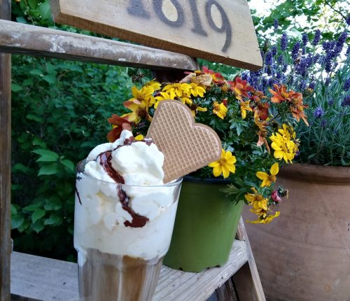 Verschiedene Desserts des 1819 Bistros