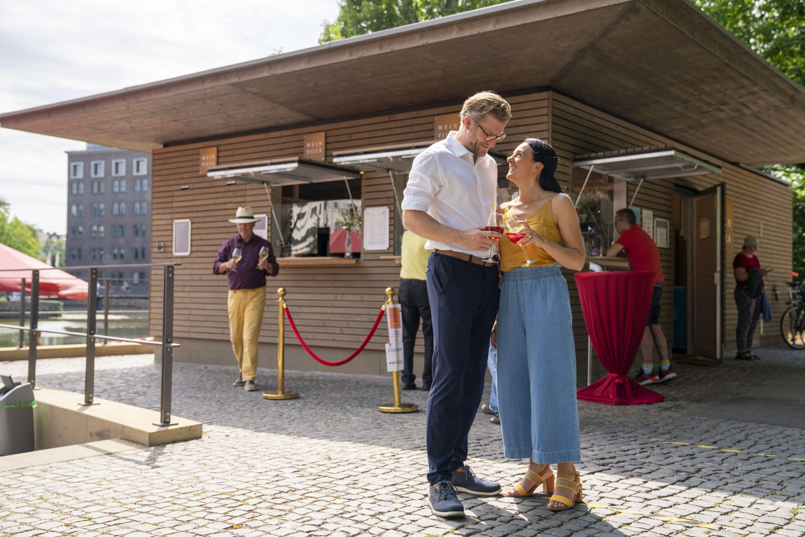 Neu in Heilbronn: Der Weinpavillon an der Neckarbühne