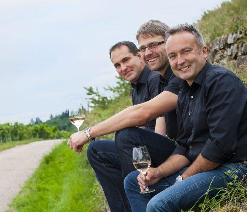 Man sieht Vorstand Thomas Beyl, Kellermeister Andreas Reichert und Geschäftsführer Axel Gerst von den Weingärtnern Cleebronn-Güglingen