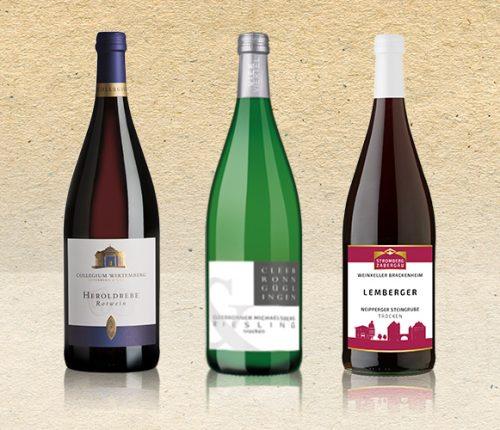 Drei Württemberger Literweine