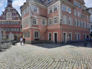 Gebäude in Esslingen am Marktplatz, hier soll die neue Vinothek entstehen