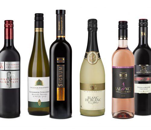 Sechs Weine im Festtagspaket