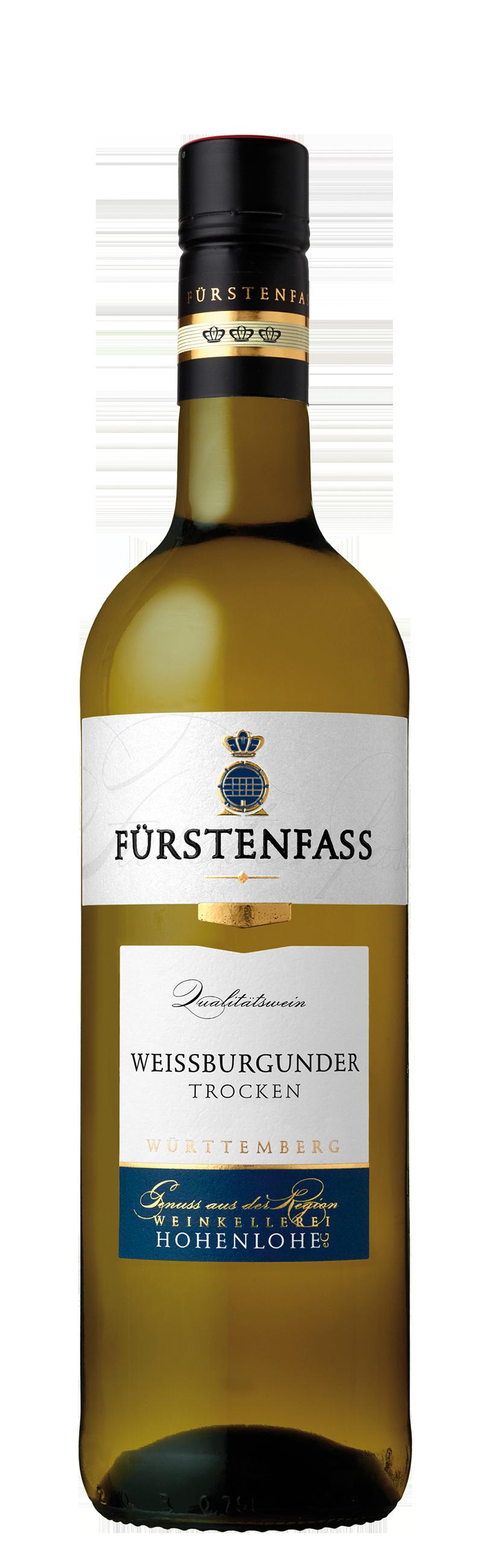 """Sieger in der Kategorie """"Traditionelle weiße Resorten trocken"""" beim Sonderwettbewerb """"Beste Württemberger"""": 2019 Weißburgunder trocken """"Fürstenfass"""""""