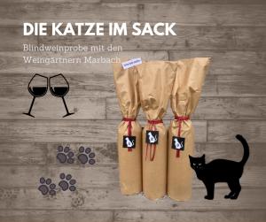 Katze im Sack Weingärtner Marbach Blindverkostung