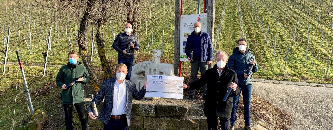 Heilbronn: Scheckübergabe Bürgerwein im Februar 2020