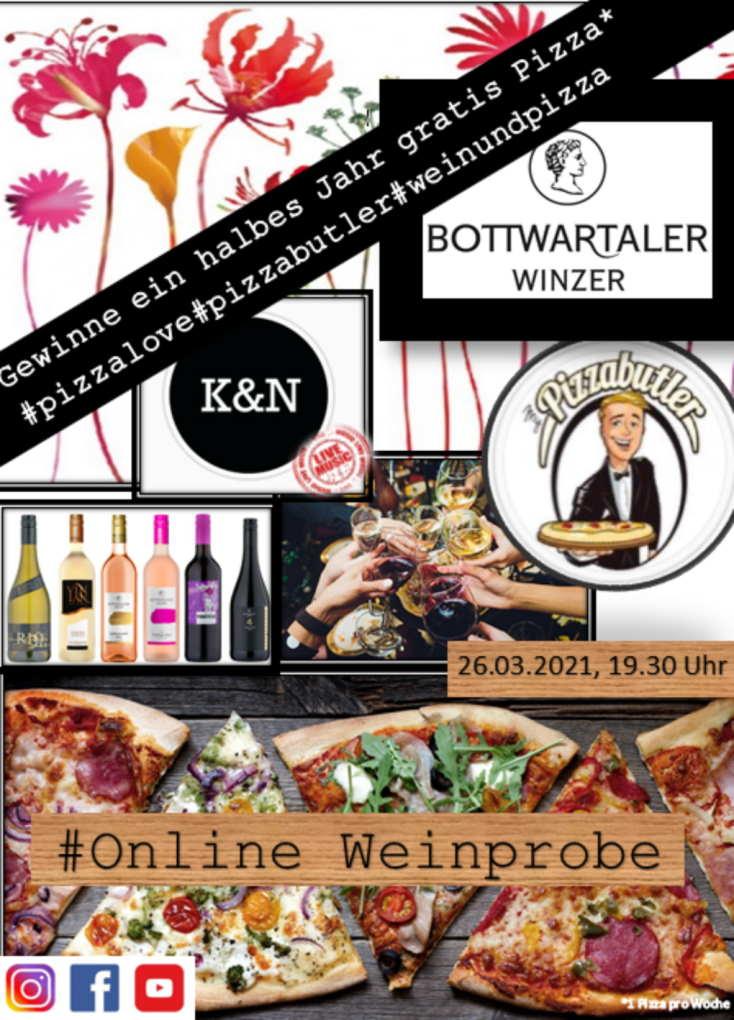 Werbeplakat der Bottwartaler Winzer für ihre Online-Verkostung