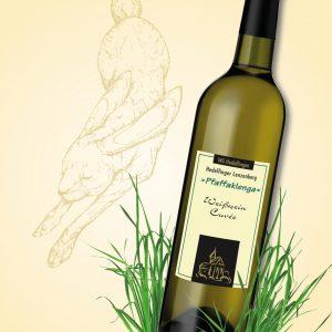 Weinflasche, stilisierter Hase, Illustration zum Frühlings-Gewinnspiel im Weinheimat Blog
