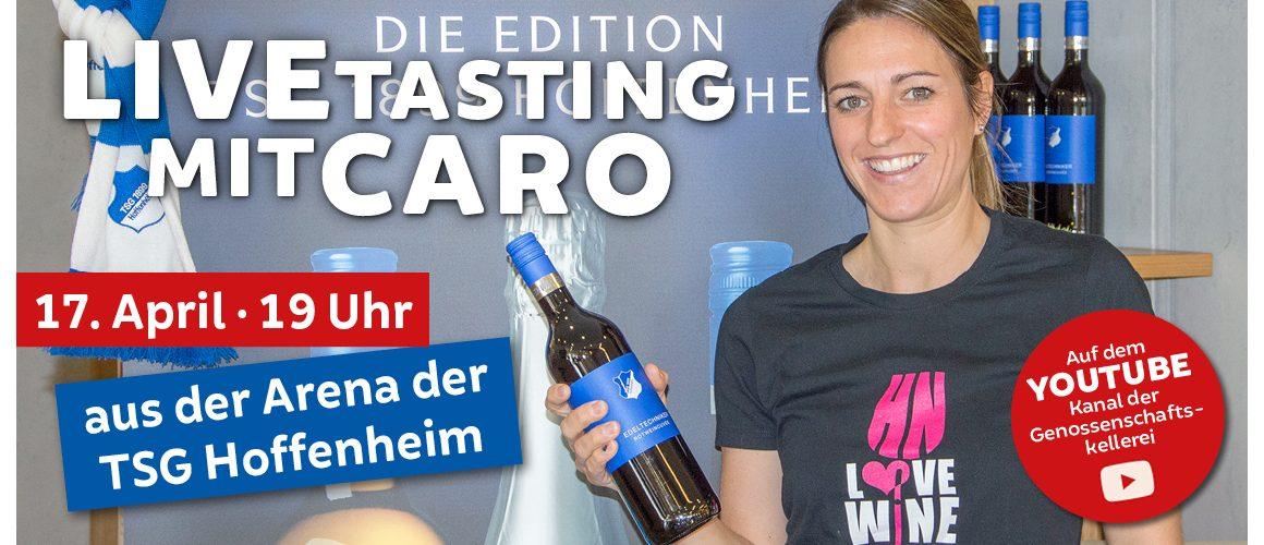Livetasting Werbebild der Genossenschaftskellerei Heilbronn