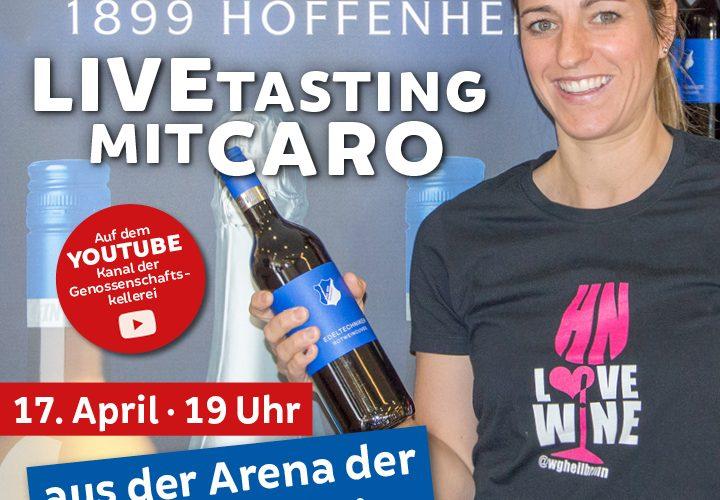 Genossenschaftskellerei Heilbronn Werbung für ihre Online-Verkostung in Sinsheim am 17.04.2021