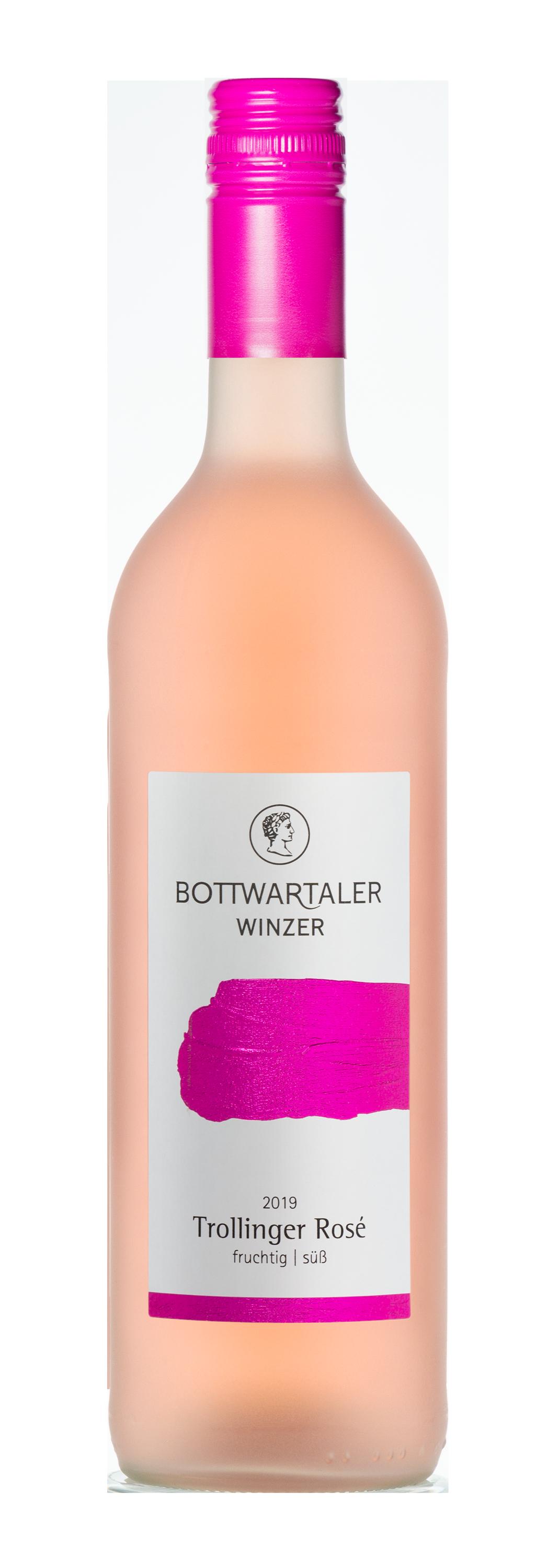Trollinger Rosé fruchtig | süß der Bottwartaler Winzer