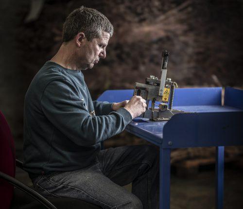 Wolfgang Keicher bei der Arbeit