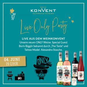 Live Only Party vom Weinkonvent Dürrenzimmern