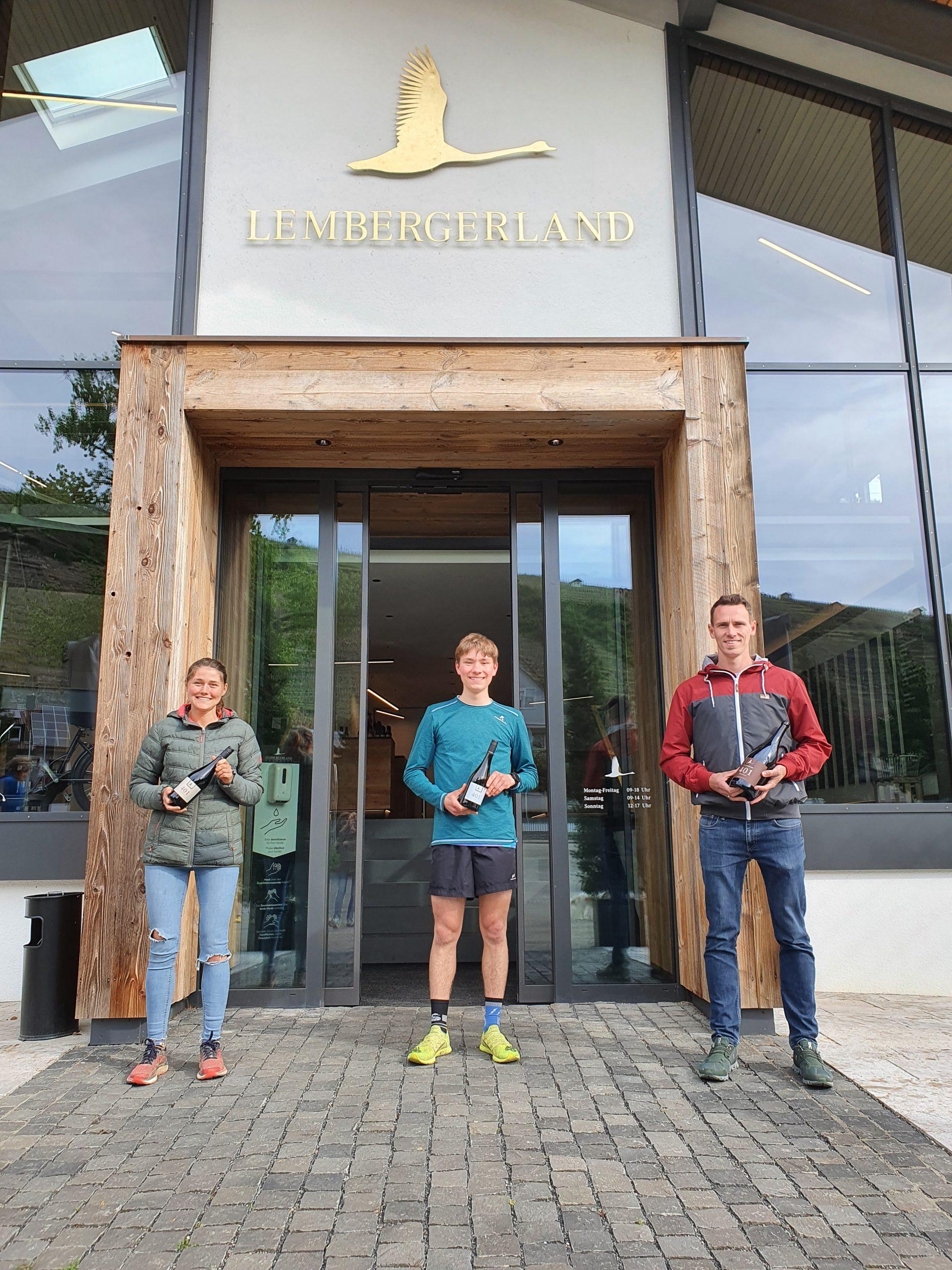 Drei der erfolgreichsten Teilnehmer*innen beim diesjährigen Stäffeleslauf: Franziska Schrader, Jurji Mildner und Cevin Blattert