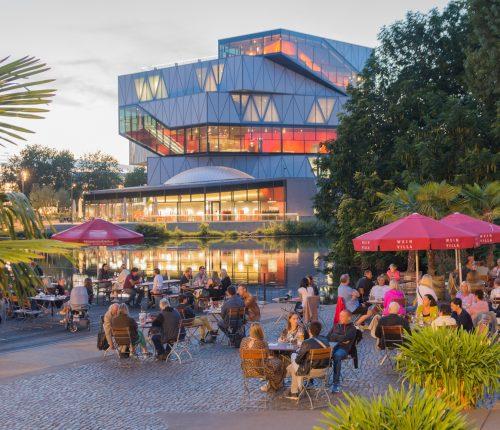 Der Weinpavillon der Wein Villa am Neckar